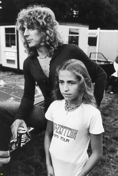 Robert Plant with daughter Carmen.