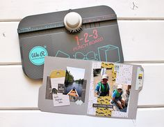File Folder Mini Album by Kimberly Crawford featuring the 123 Punch Board.