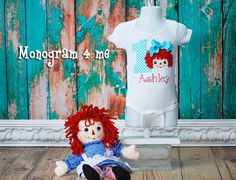 Hey, I found this really awesome Etsy listing at https://www.etsy.com/listing/184226007/raggedy-ann-1st-birthday-onsie-bodysuit