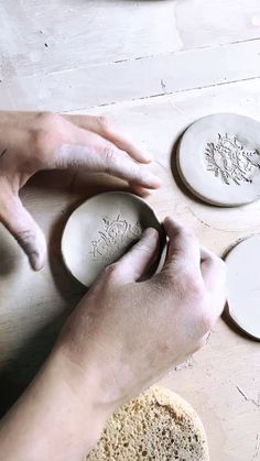 Just a moment in the studio making ring dishes and spoon rests. It's the little details that matter most! You can find the most[. Slab Pottery, Ceramic Pottery, Pottery Art, Glazes For Pottery, Ceramic Spoons, Ceramic Clay, Pottery Sculpture, Sculpture Clay, Pottery Handbuilding