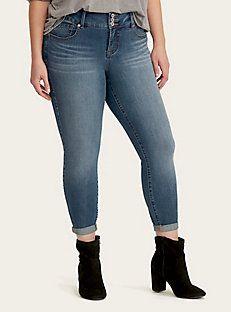 922fb24785e Premium Stretch Boyfriend Jeans - Dark Wash with Ripped Destruction ...