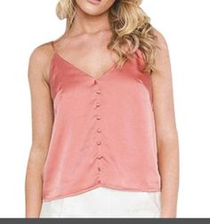 Gotd Women Summer Sexy Satin V-Neck Backless Button Tank Top Blouse T-Shirt Tee Price: $5.99