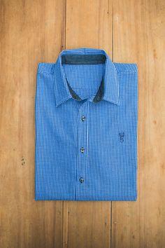 Camisa mil cuadros azul Blueridge Brand PH: Santiago Guerrero