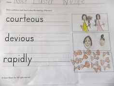 First Grade Blue Skies: Vocabulary (free) Resource Link!