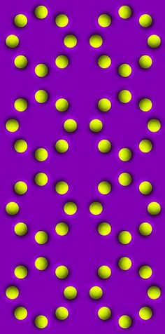 The Spinning Balls Illusion is an incredibly effective optical illusion where the balls seem to spin around the circles.