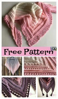 Beauiful Crochet Lace Shawl – Free Patterns #crochet #freepatternv