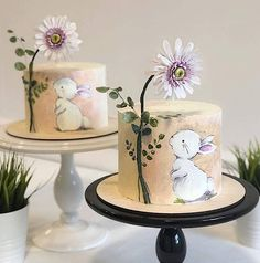 For Heaven's Cake: Irresistible Cakes for All Occasions - Einhorn und Glitzerstaub - Cute Cakes, Pretty Cakes, Toddler Birthday Cakes, Bunny Birthday Cake, Deer Cakes, Soul Cake, Geometric Cake, Decoration Patisserie, Woodland Cake