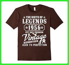 Mens The Birth Of Legends 1956 61st Birthday T-Shirt 3XL Brown - Birthday shirts (*Amazon Partner-Link)