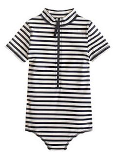 The CUTEST striped swimsuit for girls http://rstyle.me/~2m0Mj