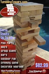 Giant Tumbling Towers for any party bbq or event :)