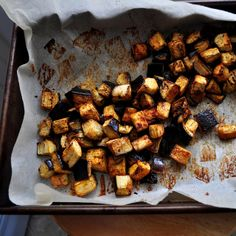 Spiced Roasted Eggplant, Baked.