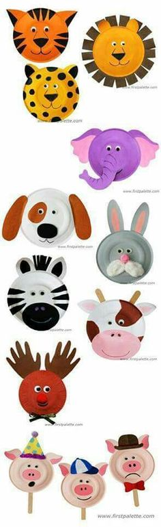 Paper plate animal's
