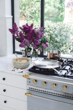 Lacanche 'Cormatin' Range in Faience & Brass | frenchranges.com