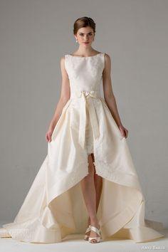 anne barge bridal fall 2015 jenny sleeveless wedding dress high low skirt bow waist