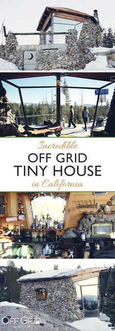 Incredible off grid tiny house built by pro snowboarder Fire Pit Wall, Fire Pit Decor, Easy Fire Pit, Large Fire Pit, Gazebo With Fire Pit, Fire Pit Backyard, Fire Pit And Adirondack Chairs, Off Grid Tiny House, Fire Pit Party
