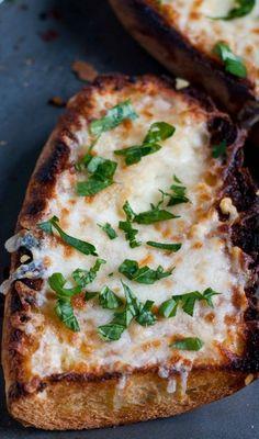 Easy Cheesy Homemade Garlic Bread