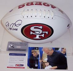Joe Montana Autographed Hand Signed San Francisco 49ers Logo Football - PSA/DNA