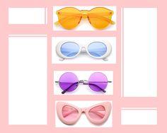 Coloured-lens Sunglasses