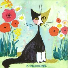 £1.19 GBP - 4X Paper Napkins For Decoupage Decopatch Cat R.W. My Garden #ebay #Home & Garden