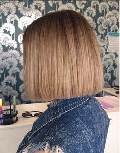 Blunt cut bob - modern hairstyle idea
