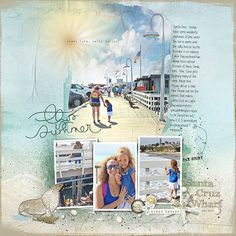 #papercraft #scrapbook #layout.  JSchaefer_Santa Cruz Wharf