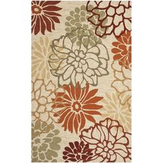 """Safavieh Four Seasons Country-Style Stain-Resistant Hand-Hooked Beige Rug (3'6"""" x 5'6"""")"""
