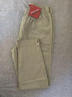 Spodnie z bengaliny Cevlar B08 kolor jasny oliwkowy - Big Sister