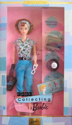 Cool Collecting Barbie Doll - Limited Edition Barbie Collectibles - 1st in Series (1999) Limited Edition First in Series Cool Collecting Barbie Doll, Barbie Collectibles,http://www.amazon.com/dp/B002ED0RT0/ref=cm_sw_r_pi_dp_nUrYsb1WCVC3CM00
