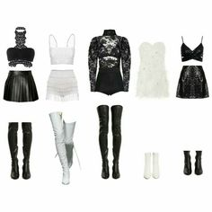 Kpop Fashion Outfits, Stage Outfits, Edgy Outfits, Korean Outfits, Dance Outfits, Girl Outfits, Korean Girl Fashion, Look Fashion, Womens Fashion