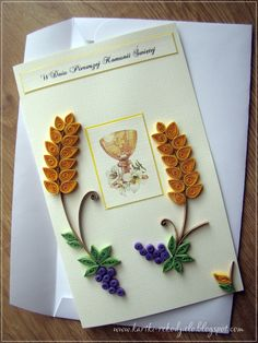 filigramme - Page 2 Paper Quilling Designs, Quilling Paper Craft, Paper Crafts, Free Quilling Patterns, Première Communion, Quilled Creations, Religious Symbols, Flower Tutorial, Greeting Cards Handmade