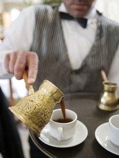 Turkish coffee, served from an ibrik - ahhhhhhhhhhhh