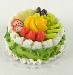 Miniature Cake with Fruit Topping - $4.95