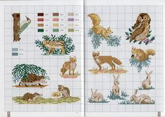 Little animal cross stitch charts Just Cross Stitch, Cross Stitch Animals, Cross Stitch Charts, Cross Stitch Designs, Cross Stitch Patterns, Broderie Simple, Diy Broderie, Cross Stitching, Cross Stitch Embroidery
