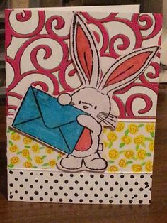 bunny card various occasions handmade