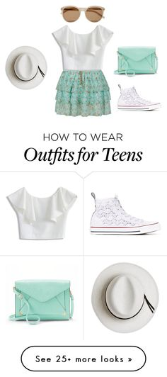 """""""1"""" by jmvincent on Polyvore featuring Chicwish, Converse, Yves Saint Laurent, Apt. 9 and Calypso Private Label"""