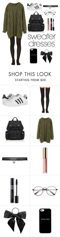 """""""Sweater Weather"""" by miriamk2020 ❤ liked on Polyvore featuring adidas, Wolford, Burberry, Chicwish, Betsey Johnson, tarte, Christian Dior and L. Erickson"""