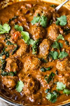 Indian spiced meatballs in curry sauce pic - Easy Food Recipes Curry Recipes, Pork Recipes, Cooking Recipes, Healthy Recipes, Rice Recipes, Cooking Tips, Vegetarian Recipes, Curry Dishes, Pork Dishes