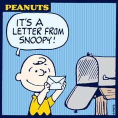 A letter from Snoopy!