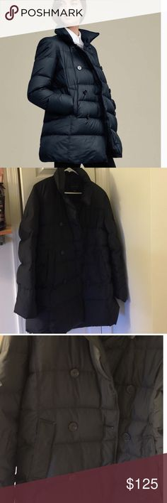NEW Ann Taylor Pea Coat New, never worn Ann Taylor Pea Coat Puffer Jacket!  Made of down material so it's very warm and comfortable.  Perfect condition. Great for an elegant look combination of a pea coat and puffer jacket.  Color is black.  This unique jacket is fabulous!! Get it before it goes! Ann Taylor Jackets & Coats Pea Coats