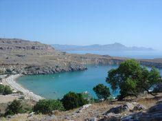 View from Lindos Acropolis, Rhodes - Greece