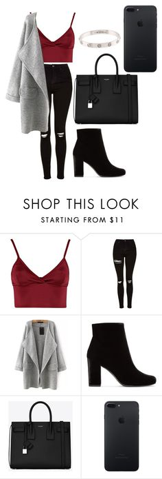 """""""street style"""" by fashionblogger2122 on Polyvore featuring Lipsy, Topshop, Yves Saint Laurent and Cartier"""