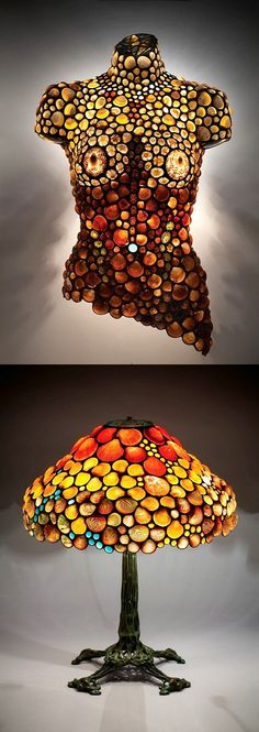 233. Desiree Gillingham creates fine art lighted wall sculptures and Tiffany style lamp shades using natural sea shells. www.ShellShades.com Stained Glass Lamps, Mosaic Glass, Tiffany Style Lamp Shades, Fine Art Lighting, Fort Mason, Gillingham, Wall Sculptures, Sea Shells, San Francisco