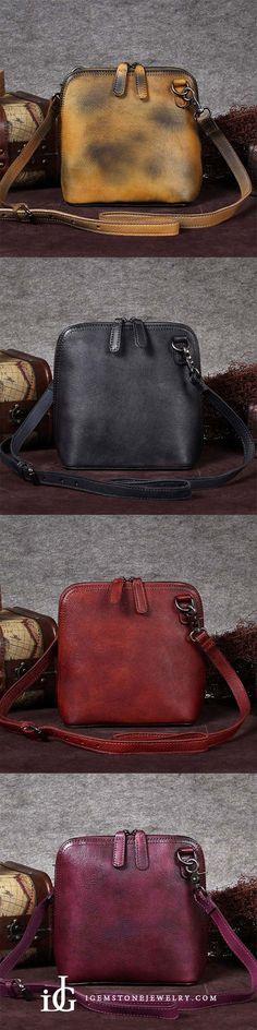 bbc36449c52e Handmade Genuine Leather Crossbody Shoulder Bags Purses Accessories Gift  for Women Small Crossbody Purse