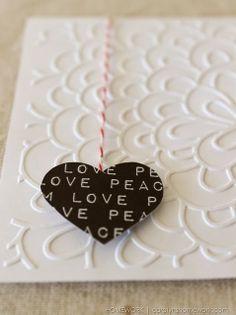 Lifestyle Crafts Embossed Valentine Cards via homework | carolynshomework.com