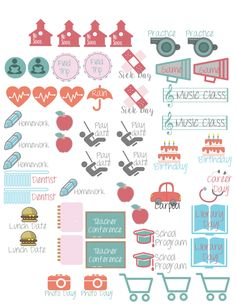 Family icons 2016 Free planner printables