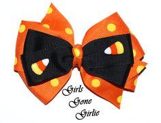 Fabric Bows Halloween Solid Orange Bow Halloween Bows Handmade Bow Baby Toddler Headband Bow Hand-Tied School Girl Pinwheel Bow