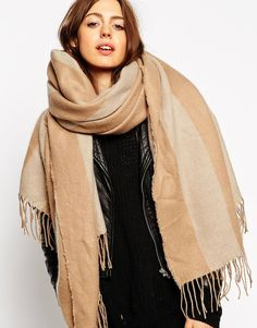 ASOS. Winter #accessory #scarf #oversize. Love this color it's super perfect for winter. Very #chic #ootd #outfit