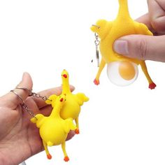 [EBay] Funny Hens Laying Egg Toy Kids Birthday Party Favor Halloween Vent Jokes Gags Pranks Trick Gadgets Chicken Laying Egg Keychain