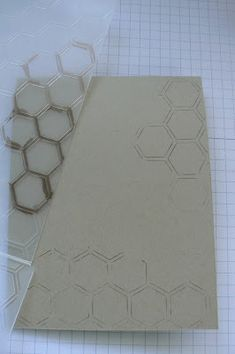 Used an embossing folder as my stamp; inked up just some of the honeycombs with a marker and pressed card stock on it. A brayer works also. Card Making Tips, Card Making Tutorials, Card Making Techniques, Making Ideas, Scrapbooking Technique, Hexagon Cards, Stampin Up Anleitung, Embossing Techniques, Embossed Cards