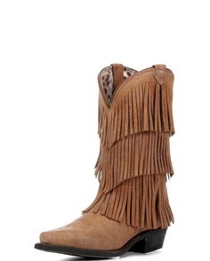 4bfd9f0a174 Dingo Women s Tres Fringe Boot - Tan--love the leopard print inside